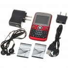 "Q8 2.0"" LCD Dual-SIM Dual-Network Standby Quadband GSM TV Cell Phone with FM/Flashlight - Red"