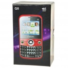 "Q8 2.0"" LCD Dual-SIM Dual-Network Standby Quadband GSM TV Cell Phone with FM/Flashlight - White"