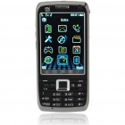 "E71 3,0 ""Touch Screen Dual-SIM-Dual-Standby-Netzwerk Quadband GSM TV Handy mit JAVA - Black"