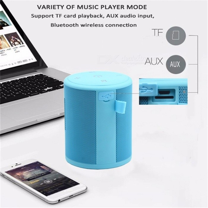 ... T2 Mini 5W Outdoor Waterproof Super Bass Bluetooth Speaker Portable Wireless Column Loudspeakers Speakers For IPHONE