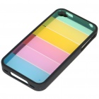 Protective Fashion Rainbow Style Back Case for Iphone 4