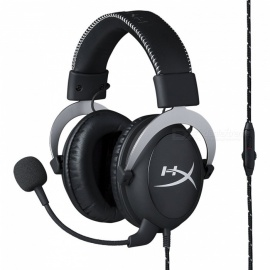 HyperX Cloud Silver Gaming Headset HX-HSCL-SR/NA for PC, Mac, PS4, Xbox One & Mobile