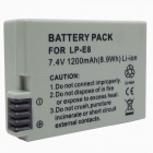 LP-E8 Compatible 7.4V 1200mAh Battery Pack for Canon EOS 550D