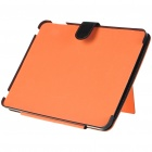 Protective PU Leather Case with Stand Holder Support for   Ipad - Black + Orange