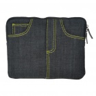 Stylish Jeans Cloth Protective Carrying Pouch for Ipad 2