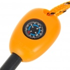 Wilderness Survival Multi-Function Tools Flint + Whistle + Compass + Saws + Ruler - Orange
