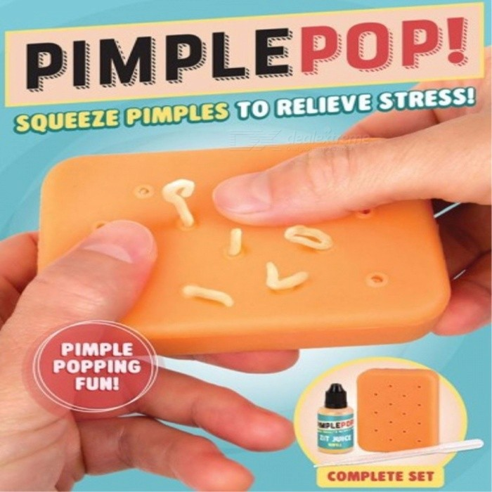 Pimple Popper New Decompression Artifacts Squeezing Acne Toys Natural Pop  It Pal Friendly Silicone Re-Use Light Yellow
