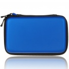 Protective Dual Zippers Hard Case Bag for Nintendo 3DS - Deep Blue