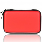 Protective Dual Zippers Hard Case Bag for Nintendo 3DS - Red