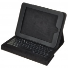 83-Key QWERTY Wired Keyboard with Protective Leather Case for Apple iPad - Black