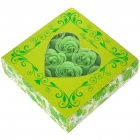 Romantic Gift Box Bath Soaps Flower Rose Petals - Green (16-Piece Pack)
