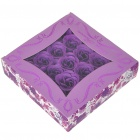 Romantic Gift Box Bath Soaps Flower Rose Petals - Purple (25-Piece Pack)
