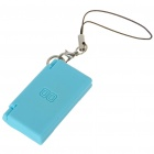 Mini Rubber NDS Shaped Cellphone Strap - Blue