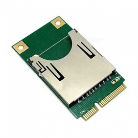 Mini PCI-E Mini PCI Express Card To SD Card Adapter Converter - Green
