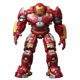 ZHAOYAO Iron Man Hulkbuster Armor Joints Movable 18CM Mark With LED Light PVC Action Figure Collection Model