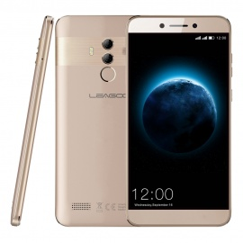"LEAGOO T8s 5.5"" FHD Incell Mobile Phone Android 8.1 4GB 32GB MTK6750T Octa Core 3080 mAh 13MP Dual Camera Smartphone - Gold"