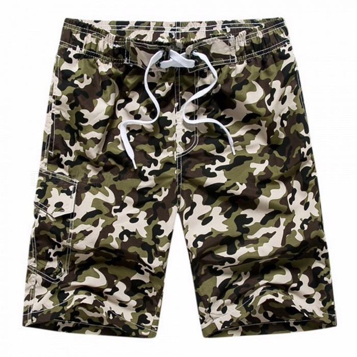 Mode Heren Casual Camouflage Boord Shorts Casual Sneldrogende Grote
