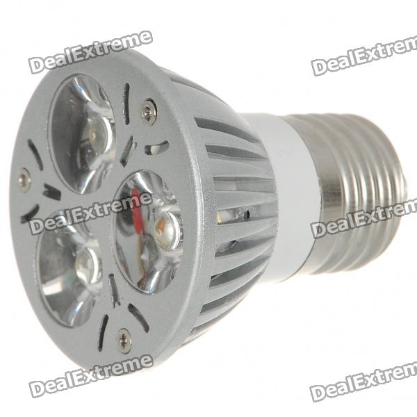 E27 3W 3-LED 260-Lumen 3500K Warm White Light Bulb (85~245V AC) e27 3w 3 led 260 lumen 3500k warm white light bulb ac 85 245v