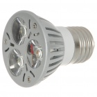 E27 3W 3-LED 260-Lumen 3500K Warm White Light Bulb (85~245V AC)