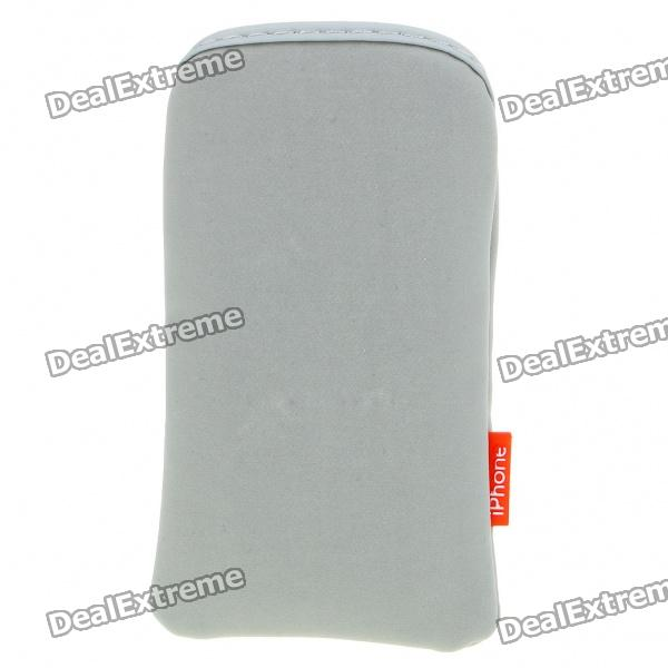 Protective Cloth Pouch Case Bag for iPhone 3G/3GS/4 - Gray