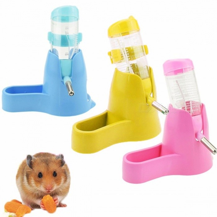 3 In 1 Hamster Water Bottle, 80ml Pet Drinking Bottle With Food Container For Feeding Rest For Small Animals - Free shipping - DealExtreme