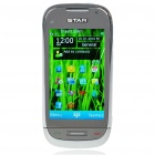 "C7 3.2"" Touch Screen Dual SIM Dual Network Standby Quadband GSM TV Cell Phone w/ Wi-Fi - White"