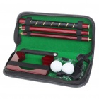 Compact Portable Golf Set with PU Leather Carrying Pouch - Black