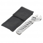 Stainless Steel Multi-Function Pocket Wrench Toolkit with Carrying Pouch