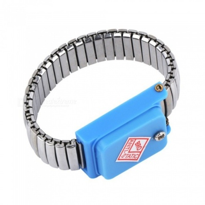 Wristband Strap ESD Discharge Static Wrist Band Of Stainless Steel Metal Working Tools Electrician IC PLCC