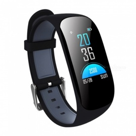 Z17C IP67 Waterproof Smart Bracelet with Heart Rate Monitor, Blood Oxygen, GPS - Black