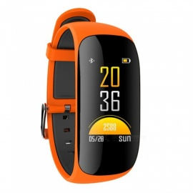 Z17C IP67 Waterproof Smart Bracelet with Heart Rate Monitor, Blood Oxygen, GPS - Orange