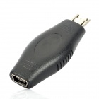 Mini USB Female to Micro USB Male Adapter Converter - Black
