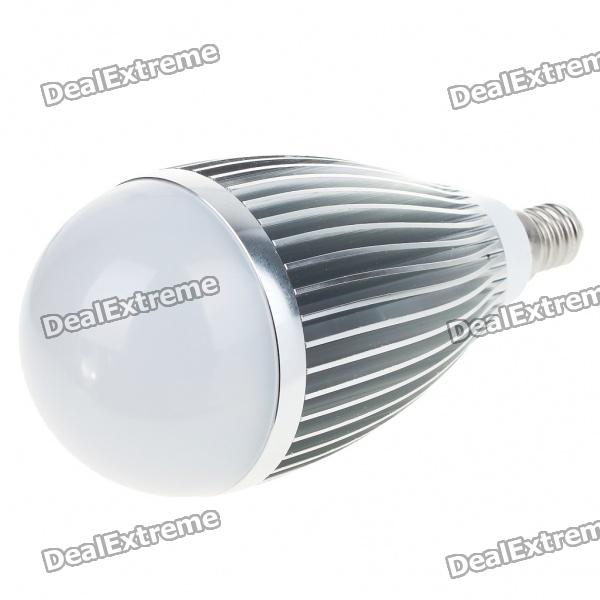 E14 7W 700-Lumen 6500K 7-LED White Light Lamp Bulb (AC 85~265V) gu10 9w 6500k 810 lumen 18 led white light bulb ac 85 265v