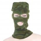 Knitting Wool Face Mask - Camouflage Army Green