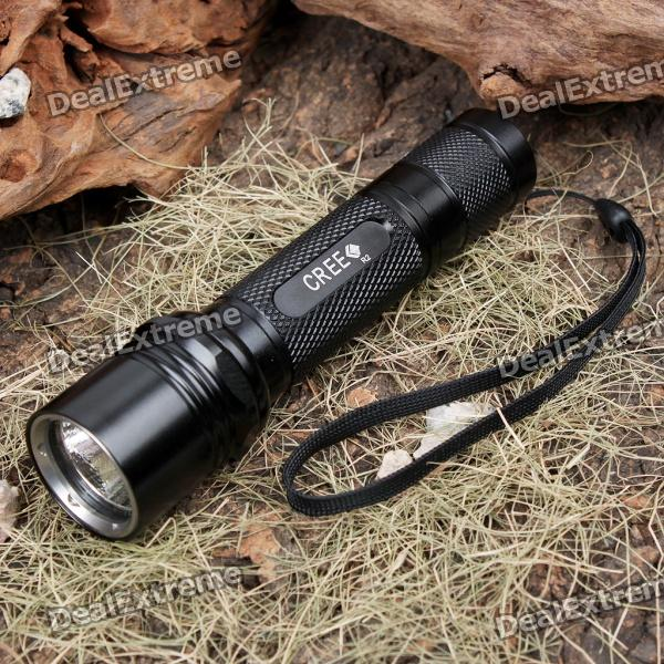 UltraFire WF504B XM-LT6 510-Lumen White LED Flashlight with Strap - Black (1 x 18650) ultrafire sf 23 t60 xm lt6 ha iii 5 mode 910lm white memory led flashlight w strap 1 x 18650