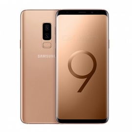 "Samsung Galaxy S9 Plus G965FD 6.2"" LTE Smart Phone with 6GB RAM, 64GB ROM - Gold"