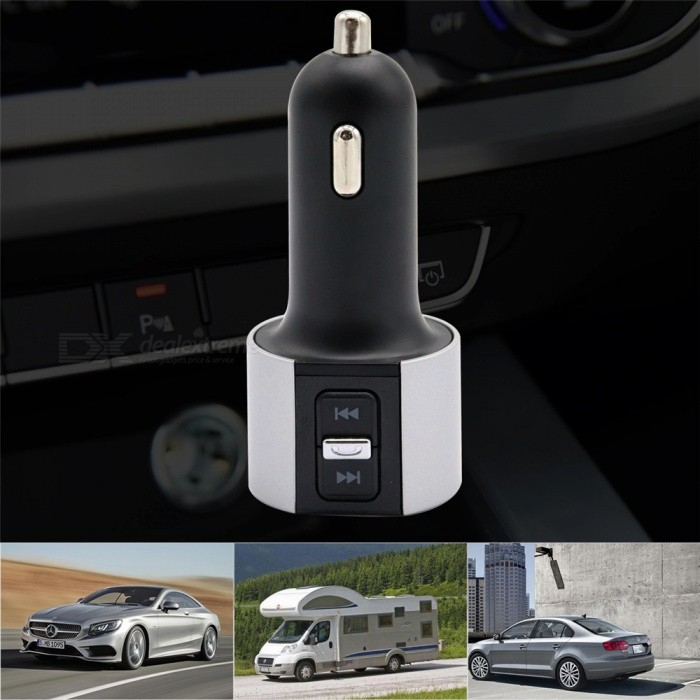 C3856 12v 24v Universal Dual Usb High Cur Car Charger Cigarette Lighter Type Mp3 Player Free Shipping Dealextreme