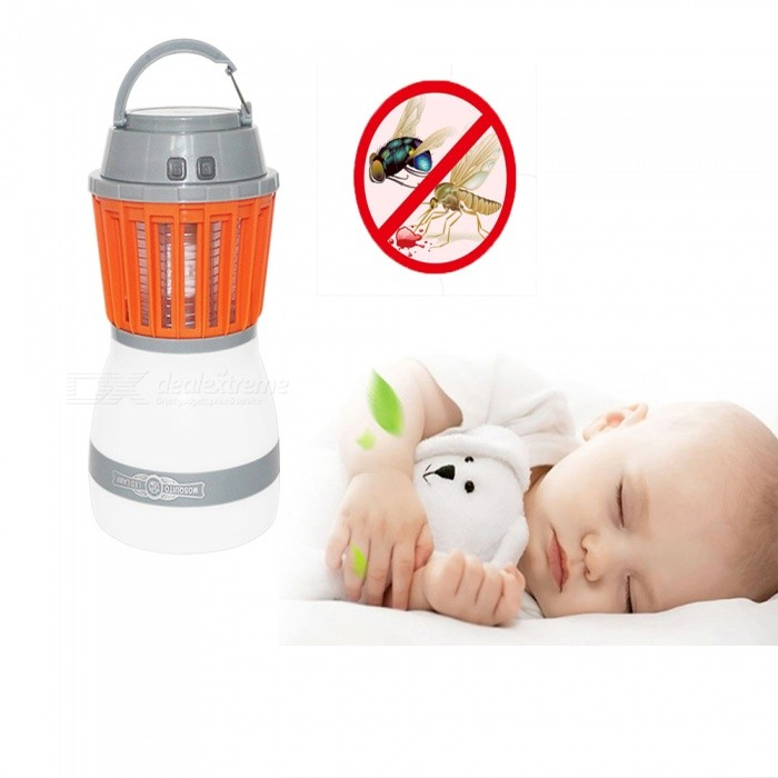 2-in-1 Portable USB Charging LED Camping Light, Waterproof Mosquito Killer Lamp Pest Repeller