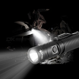 UF-168 Super Bright USB Rechargeable Focusing Flashlight Torch Lamp with Strap and Clip