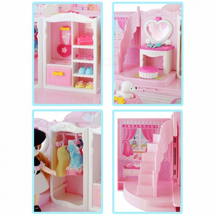 mimiworld Mini Cute Sweet Handbag Shape Furniture Toy House, Pretend Play  Toy Birthday Gift For Girls Pink