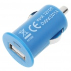 Stylish Car Charging Adapter + USB Cable Set for iPhone 3G/3GS/4/iPod - Blue (12 V)