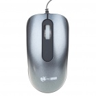 MCSaite USB 2.0 800DPI Optical Mouse with Retractable Cable - Black + Grey (70CM-Cable)