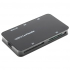 All-in-One USB 2.0 MS/M2/MicroSD/SD/XD Card Reader - Black