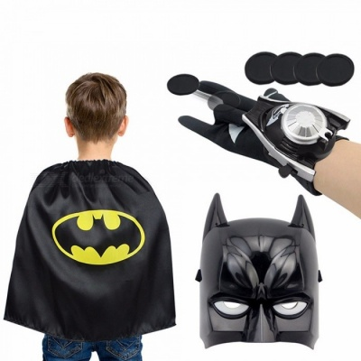 Cartoon Children Kids Spiderman Advengers Superhero Costume Mask Cloak Gloves Halloween Black