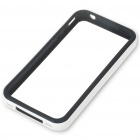 Protective Bumper Frame Case Cover + Screen Guard + Logo Protection Film for iPhone 4 - White