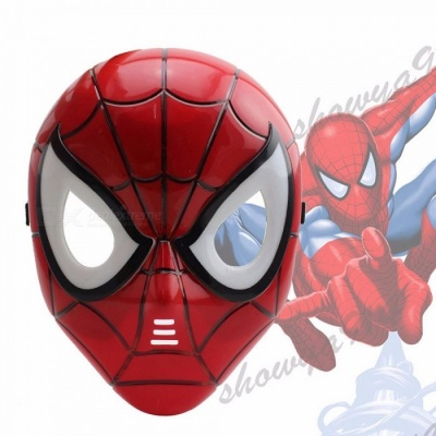 Cartoon Gift Set Children\'s Cape Cloak Halloween Spiderman Fancy Dress Hero Mask Superhero Set Red
