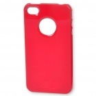 Ultra Thin Protective Colors Case + Screen Guard + Logo Protection Film for iPhone 4 / 4S - Red