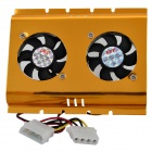 "Dual Cooling Fan for 3.5"" HDD Hard Disk Drive"