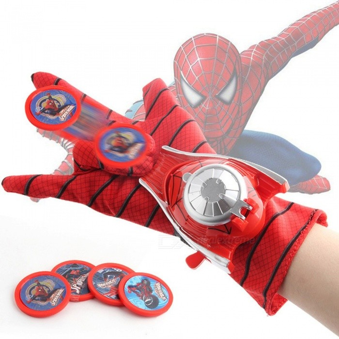 8ac71481a Amazing Spider-Man Marvel Heroes 2 Gloves Darts Catapult Wrist Launcher Kids  Dress Up Cosplay Toys Green
