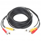 RCA/DC Audio Video Power Extension Cable for CCTV Camera (10M-Length)